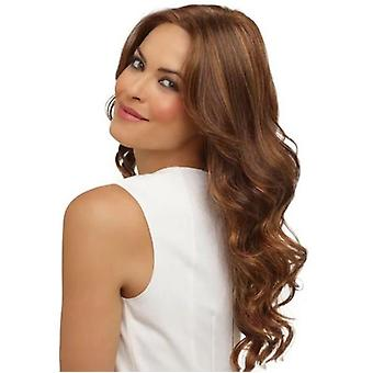 Fashion Wig Ladies Mid Length Curls  Middle Part With Air Bang Curly