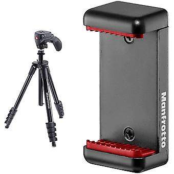 FengChun Compact Action Stativ schwarz MCLAMP Smartphone Halterung schwarz