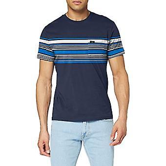 Lee Stripy Pocket Tee T-Shirt, Navy Blue, XL Men's