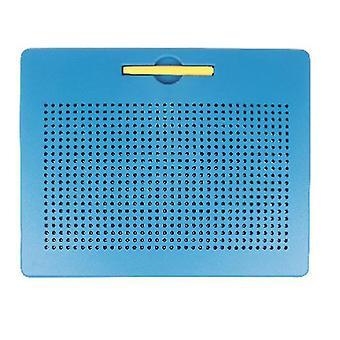 L blauwe plastic stalen bal magnetische tekentafel kinderspeeltje az5178