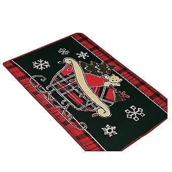 45 * 70Cm ciemnozielony wózek christmas series parter stóp drzwi mat dywan dt1664