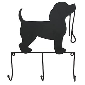 Set Of 3 Wall Hooks With Dog And Lead