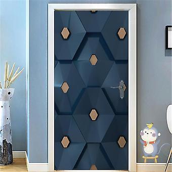 Modern 3d Diy Abstract Corridor Pvc Door Sticker - Set 2