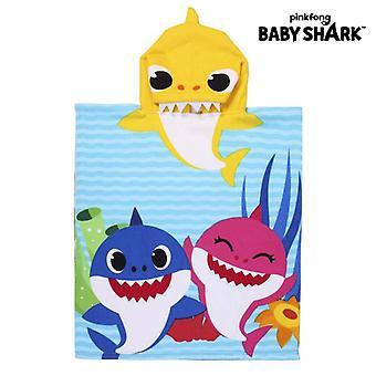 Poncho-Towel with Hood Baby Shark Yellow (50 x 115 cm)