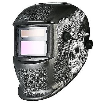 Industrial Welding Helmet Solar Power Auto Darkening Welding Helmet TIG MIG with Adjustable Head