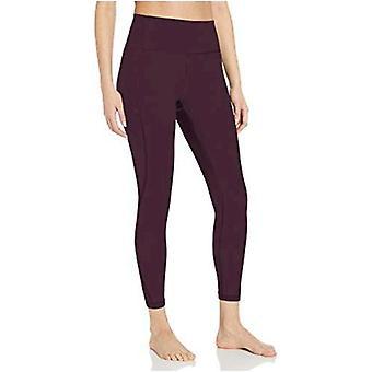 Core 10 Mujeres's Standard Nearly Naked Yoga High Waist 7/8 Crop Legging-24, Navy, Medium
