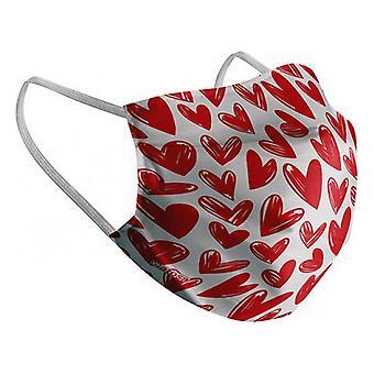 Hygienic Reusable Fabric Mask Heart Children's