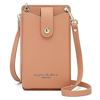 Módní multifunkční diagonální mini taška na mobilní telefon (růžová)