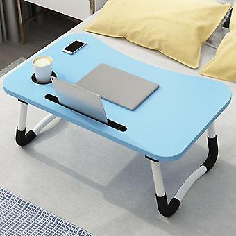 (Blauw) Draagbare verstelbare opvouwbare laptop bureau opvouwbare studie computer bed tafelstandaard