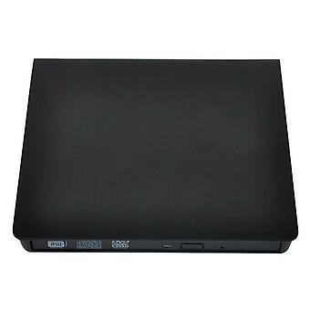 (Zwart) USB 3.0 externe DVD RW CD Writer Drive Burner Reader Player voor laptop PC
