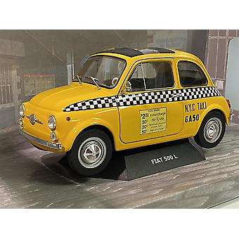 Fiat 500 NYC Taxi 1965 Yellow 1:18 Scale Solido 1801407