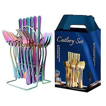 أدوات المائدة الفولاذ المقاوم للصدأ 24 قطعة مجموعة