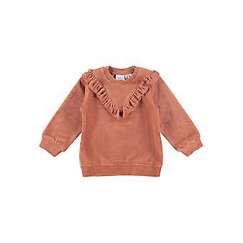 Name-it Girls Newborn Sweater Velour Naya Etruscan Red