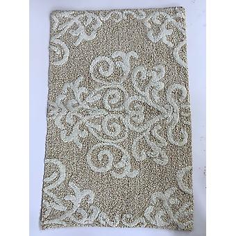 "Spura Home Non Skit Mat 100% Cotton Damask Earth Tone Bath Rug 20""x32"""