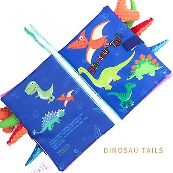Dinosaur Tails Baby Soft Cloth Reading Books Toddler Early Learning Cognize Toy