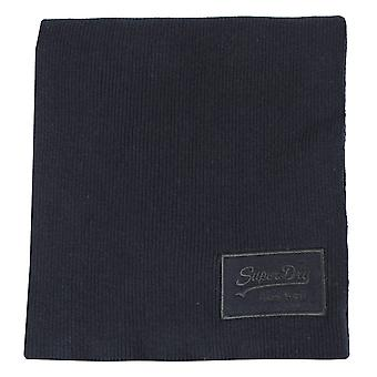 Superdry eclipse navy black grit classic scarf