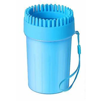 Nettoyeur de pattes de chien Nettoyeur de pattes, Toilettage portable de pattes de chien, Laveur de pattes de chien de chien idéal pour chiens actifs (24cm) Bleu
