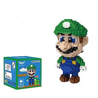 Green Mario Concrete Block  For Creative Play Building Block Sets