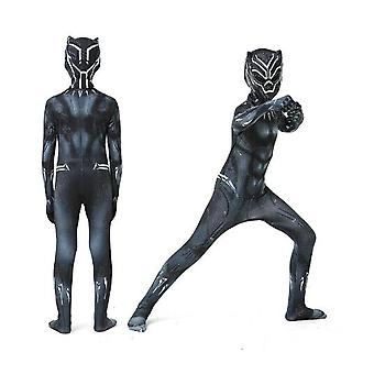 Kids Boy Black Panther Costume Superhero Cosplay Party Dress Gift