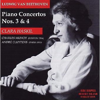 ベートーヴェン/・ ハスキル/Bso/ムンク - ピアノ協奏曲 3 ・ 4 [CD] アメリカ インポート