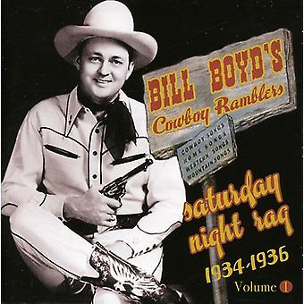 Boyd'Sbill Cowboy Ramblers - samedi nuit Rag: 1934-36 [CD] USA import