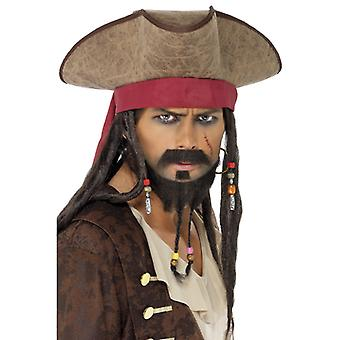 Pirate Hat Sparrow Caraibe blestem cu Dreadlocks Pirate Hat Hat
