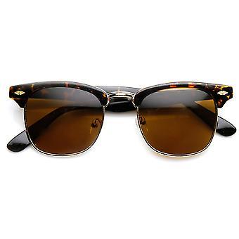 الكلاسيكية على شكل نصف القرن شبه مؤطرة الإطار انعقدت النظارات الشمسية