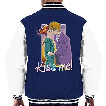 Marmelad pojke kyssa mig Miki Yuu mäns Varsity jacka