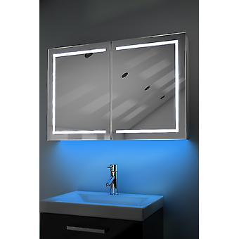 Armoire avec LED sous éclairage, capteur & interne rasoir k374w de désembuage