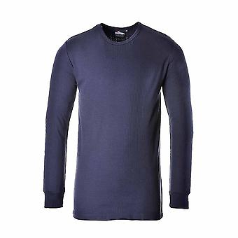 Portwest Workwear - Mens Thermal Base Layer Underwear T-Shirt Long Sleeve
