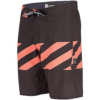 Volcom Macaw Mod Mid Length Board Shorts in Stealth