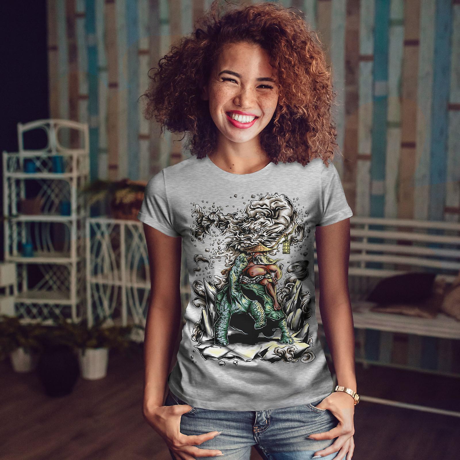 Dragon chinois Art GreyT-chemise femme | Wellcoda