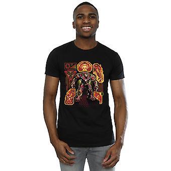Marvel Men's Avengers Infinity War Hulkbuster Blueprint T-Shirt