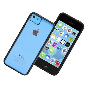 Griffin Reveal caso per Apple iPhone 5C (nero/trasparente)