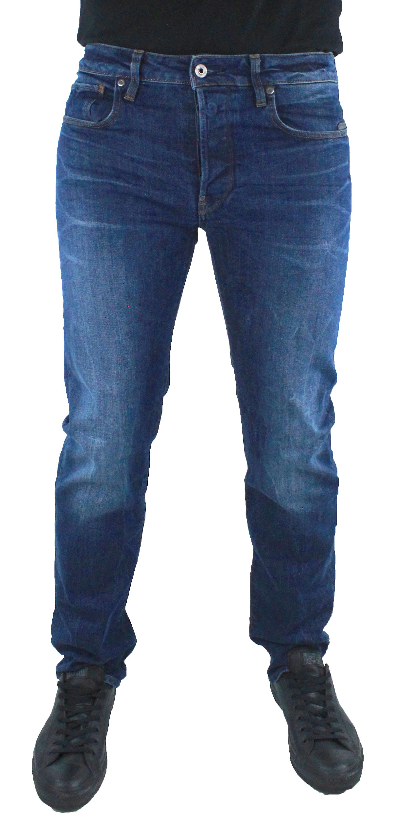 G-Star Revend Straight Dark Blue Accel Stretch Denim Jeans