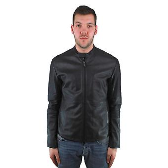 Emporio Armani W1B50P W1P52 999 Leather Jacket