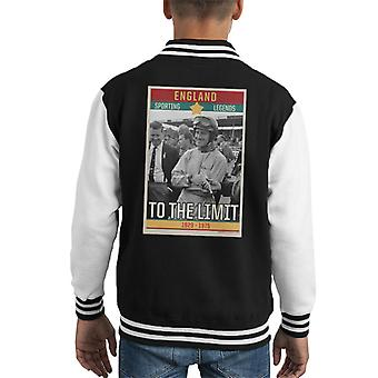 Sporting Legends Poster England Norman Graham Hill To The Limit 1929 To 1975 Kid's Varsity Jacket