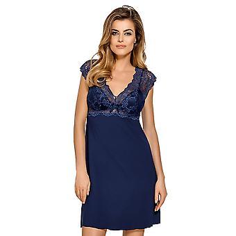 Clara Navy dentelle bleue nuit robe Pyjama chemise de nuit Nipplex CLA-GRN-KOS féminin