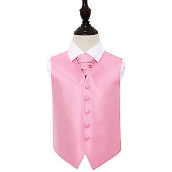 Baby rosa greske viktige bryllup vest & Cravat sett for gutter