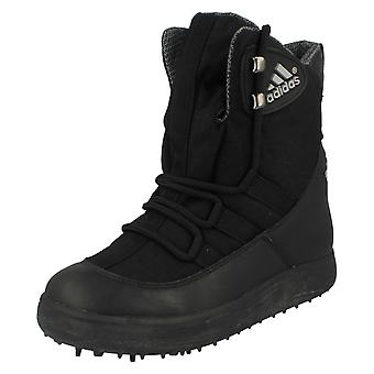 Boys Adidas Waterproof Lace Up Golf Boots Mud Skipper II