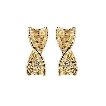 Orphelia Silver 925 Earring Gold Zirc  ZO-6028/2