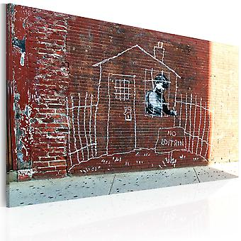Schilderij - Grounded (Banksy)