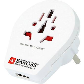 Skross 1.500260 Travel adapter World to Europe USB