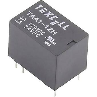 Texcell TAA1-12H PCB relay 12 V DC 5 A 1 change-over 1 pc(s)