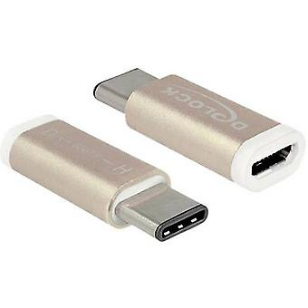 Delock USB 2.0 Adapter [1x USB-C plug - 1x USB 2.0 port Micro B] 65677