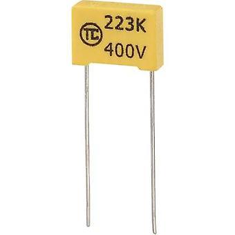 1 PC (s) MKS thin film condensator radiale lood 0,022 μF 400 V DC 5% 10 mm (L x b x H) 13 x 4 x 9 mm