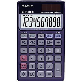 Casio SL-310TER+ Pocket calculator Blue Display (digits): 10 solar-powered, battery-powered (W x H x D) 70 x 8 x 118.5 mm
