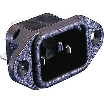 IEC kontakt PX-serien (strømnettet koblinger) PX plugg, loddrett mount totalt antall pinner: 2 + PE 10 A Black Bulgin PX0580/28 1 eller flere PCer