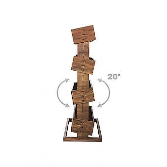 垂直凸起床种植表草本床实木与4个移动盒