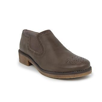 حذاء بدون كعب الاخفاف ليبرتي على نحو سلس الجلد براون 21603425-01